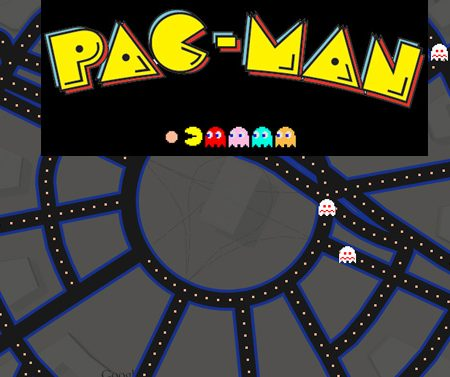 Poisson d'Avril : jouez à Pac-Man dans le street view de Google Maps !