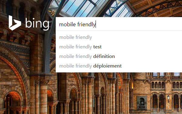 Bing mobile-friendly