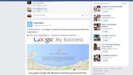 Mise à jour de l'algorithme Facebook : le temps passé sur les publications !