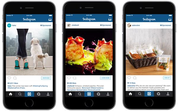 Publicités Instagram