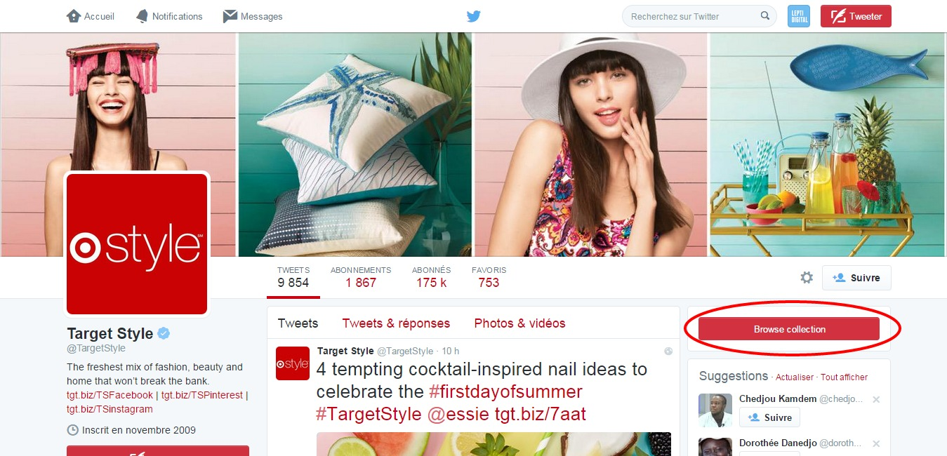 Target Style Collections Twitter