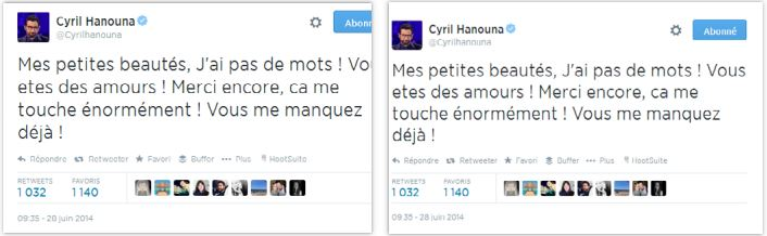 Cyril Hanouna Twitter