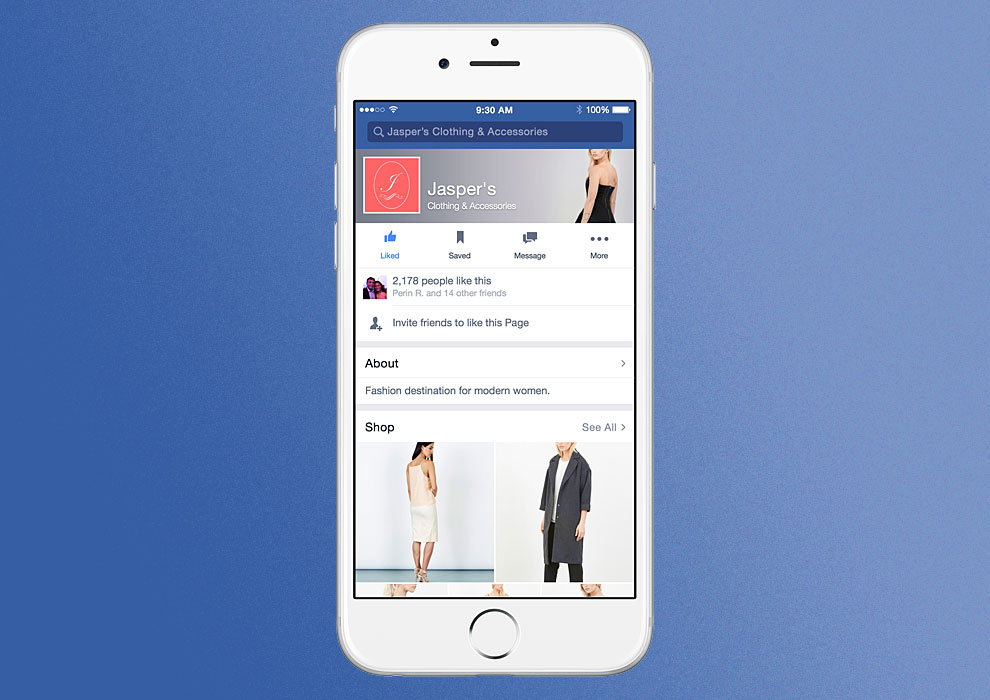 Facebook Boutique E-commerce