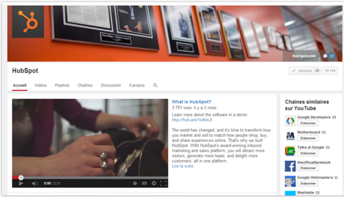 Hubspot Youtube