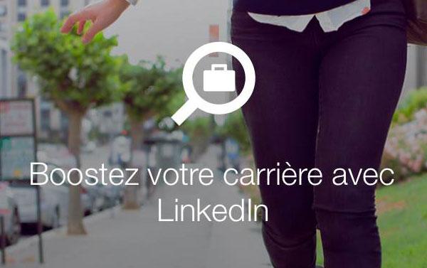 Linkedin application recherche emploi