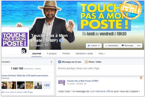 Touche pas à mon poste Facebook