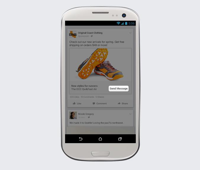 Call-to-action Envoyer Message Publicités Facebook