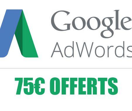Comment obtenir un code promo Google Adwords de 75 euros ?