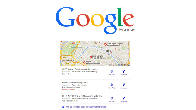 Google référencement local