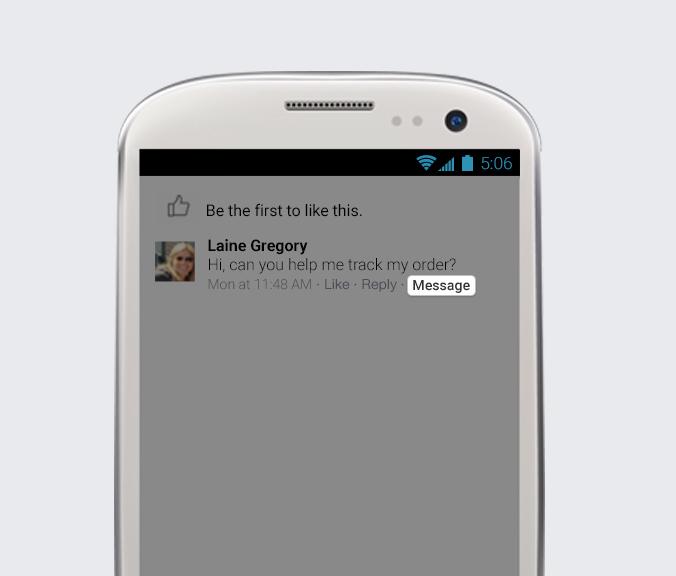 Nouvelle fonctionnalité message Facebook