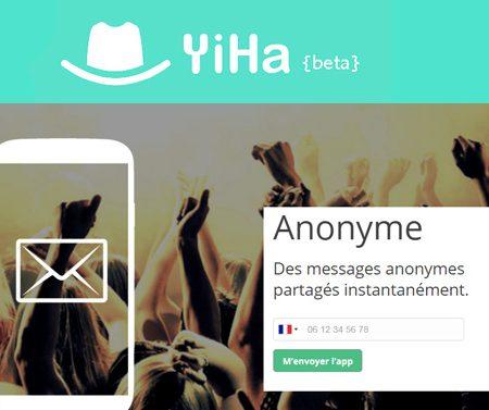 Yiha, l'application pour partager des messages anonymes géolocalisés !