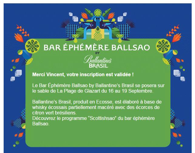 Bar éphémère Ballsao