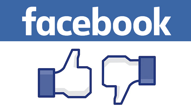 Bouton je n'aime pas sur Facebook