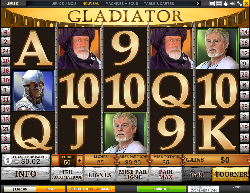 gladiator jeu casino
