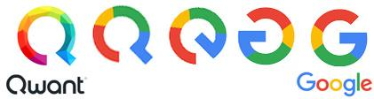 Google copie logo Qwant