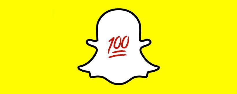 signification 100 souligné snapchat