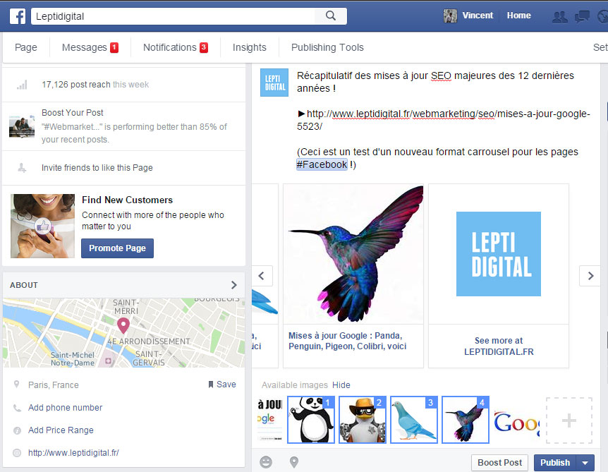 Dernier slide carrousel Facebook