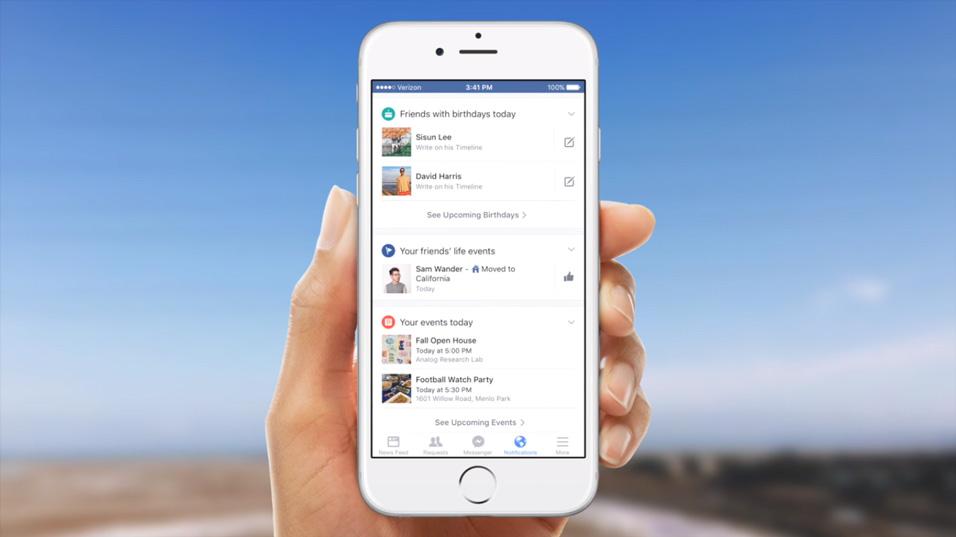 Facebook notification anniversaires