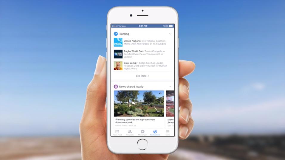 Facebook notification actualités