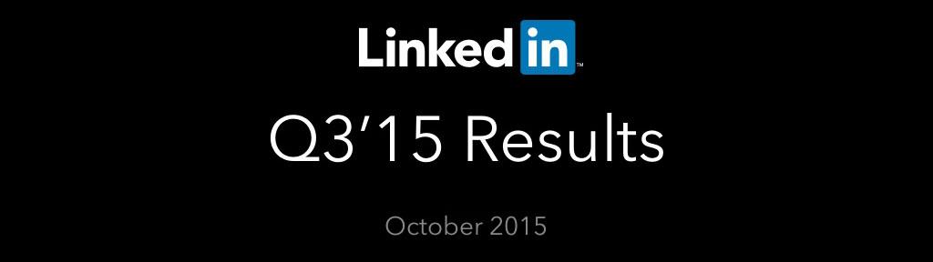 linkedin chiffres q3 2015