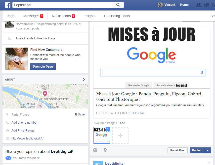 possibilité format carrousel facebook