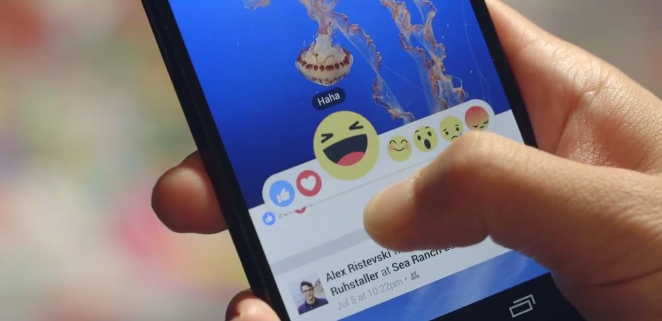 Nouvelles reactions facebook