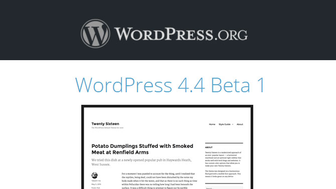 WordPress 4-4