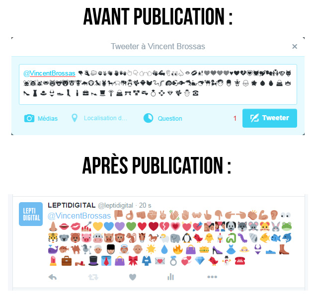 comment ajouter emoticones twitter
