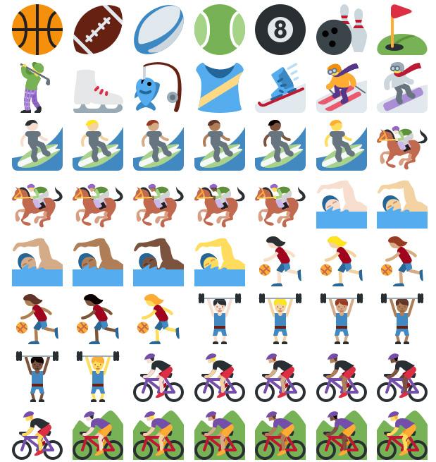 Emoticones Twitter Sport