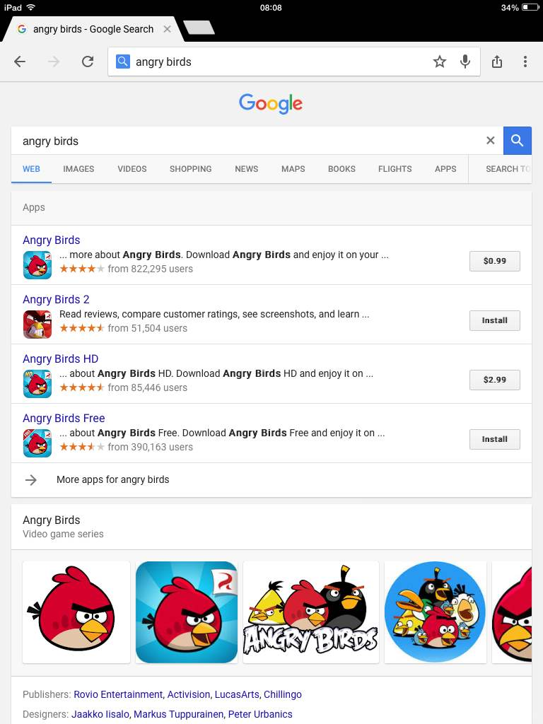 google angry birds ipad