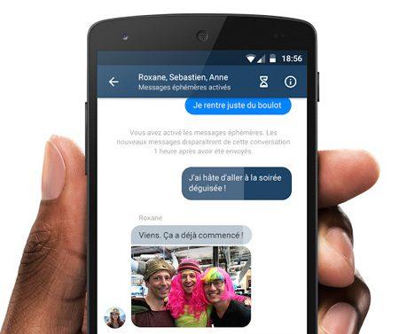 Facebook teste les messages éphémères via Messenger !