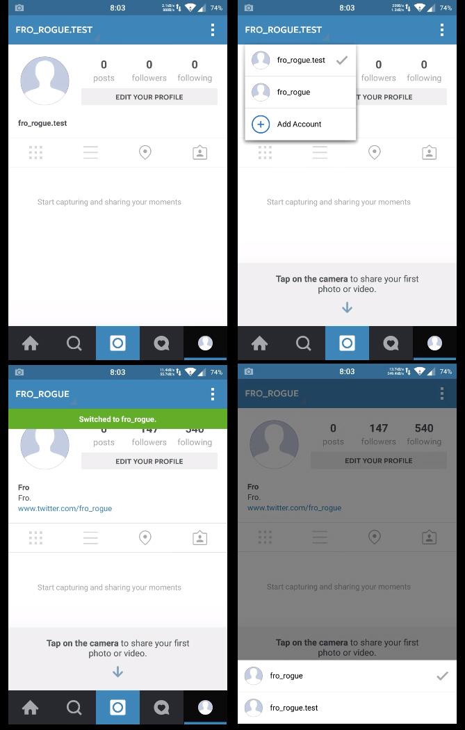multi-compte Instagram