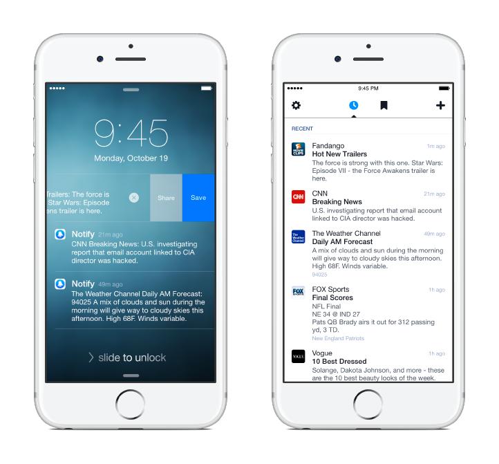 notify facebook iphone