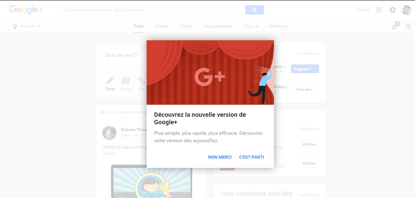 nouvelle version google plus