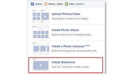 Comment créer un diaporama d'images (slideshow) sur Facebook ?
