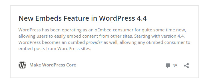 embed wordpress 4-4