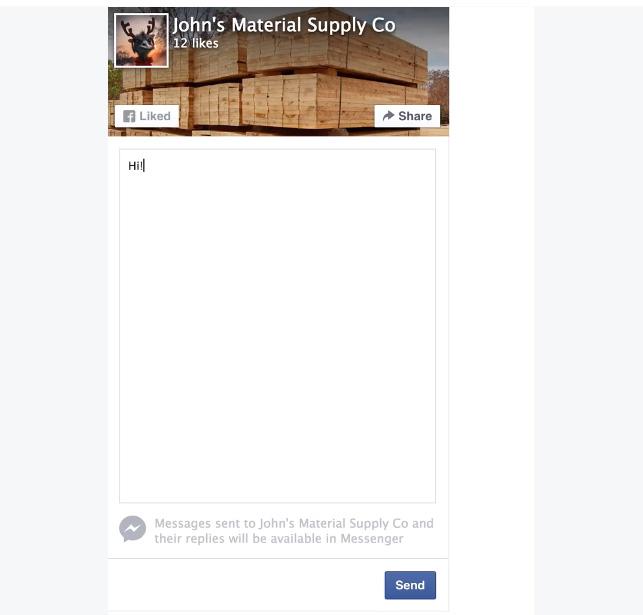 envoyer message page plugin