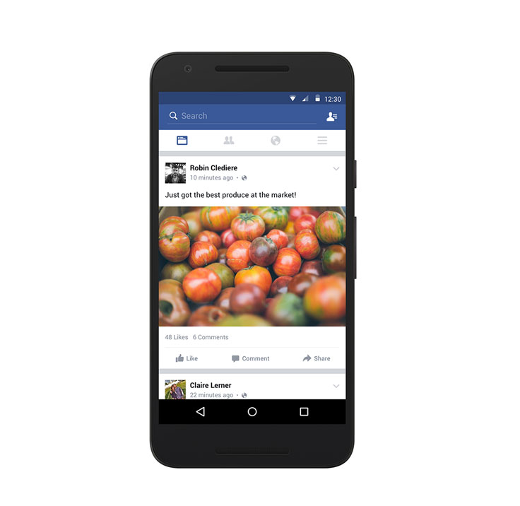 facebook lite newsfeed
