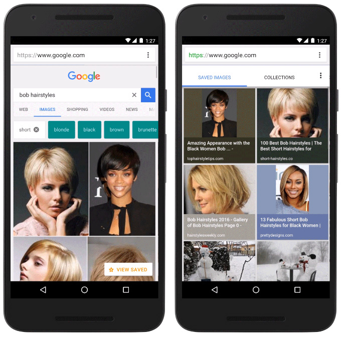 images enregistrées Google