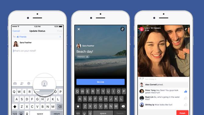 live facebook video