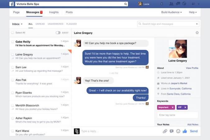 nouveauté messagerie Facebook