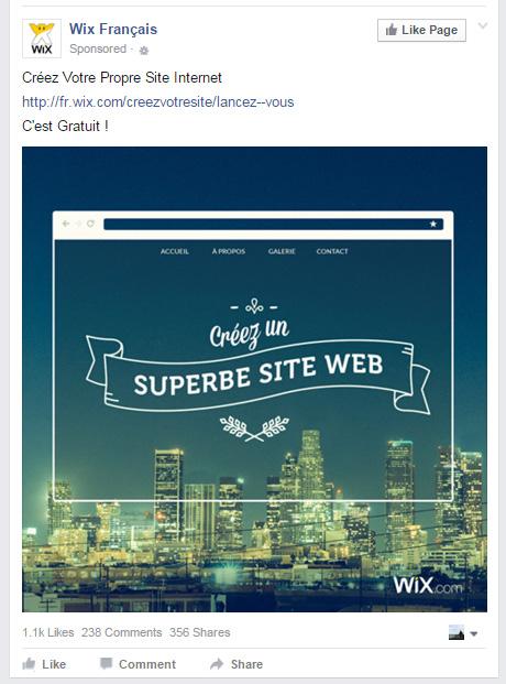 pub facebook Wix