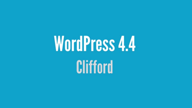 WordPress 4.4 Clifford