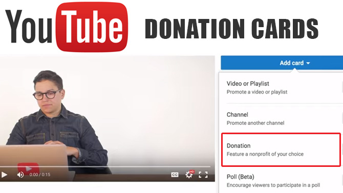 YouTube lance les donation cards !