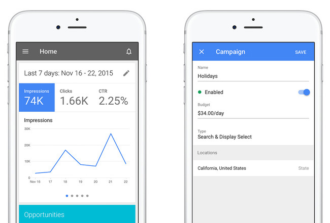 appli google adwords iPhone