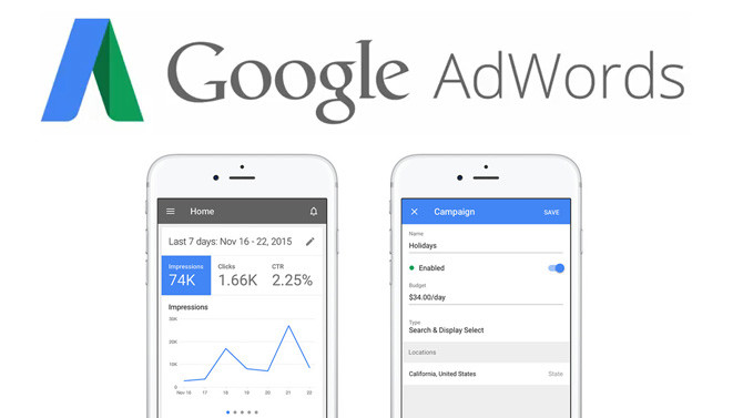application google adwords iPhone