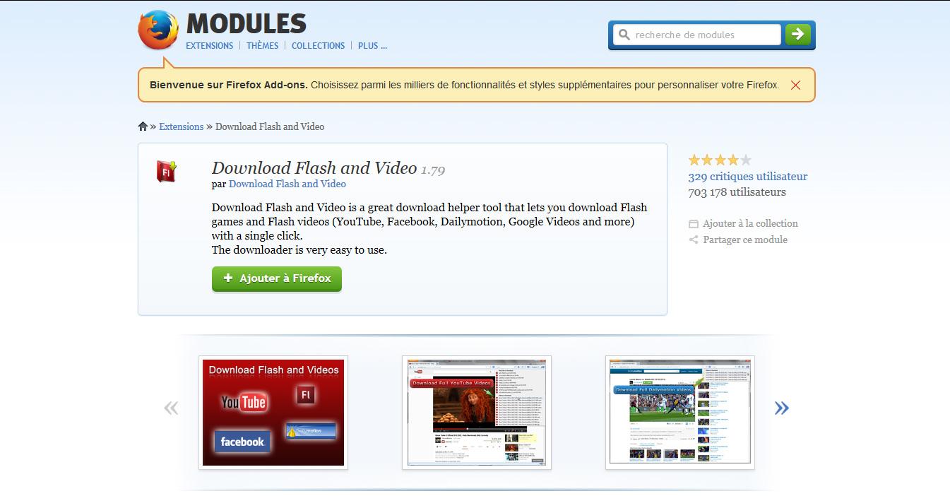 download flash video Firefox