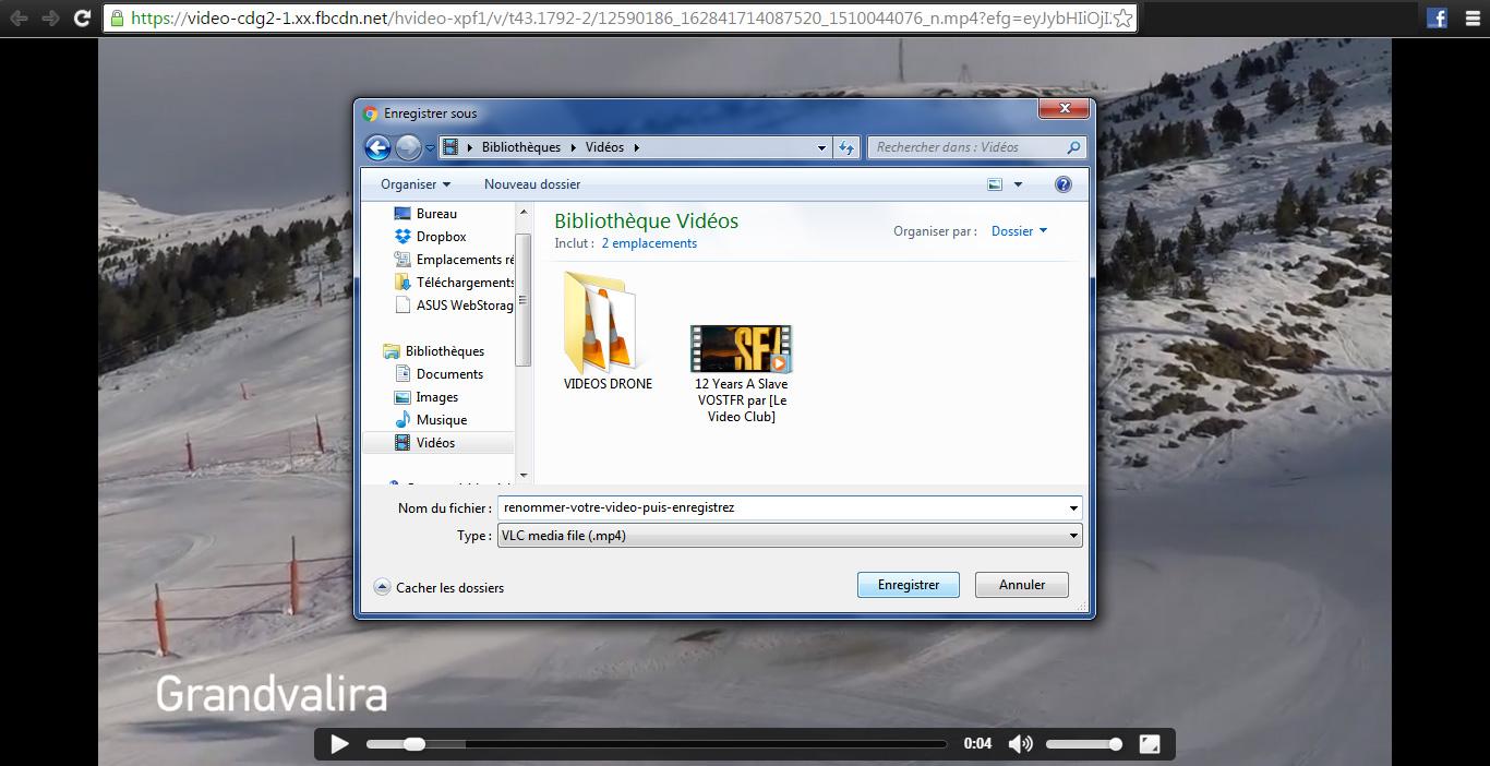 enregistrer video facebook