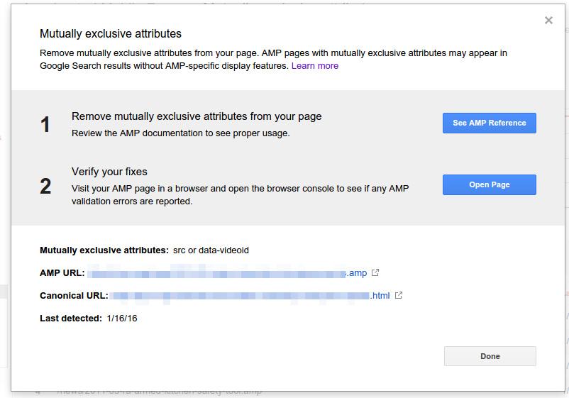 google amp rapport