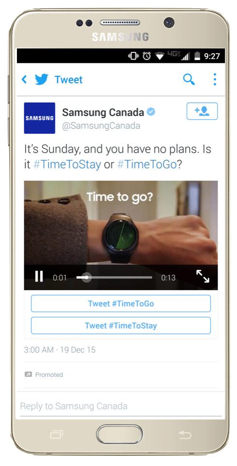 twitter conversational ads samsung